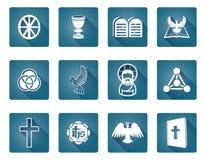 Christian Icon Symbols. A set of Christian religious icons and symbols Royalty Free Stock Photo