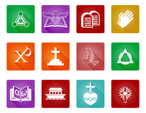 Christian Icon Symbols. A set of Christian religious icons and symbols Stock Photography