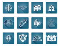 Christian Icon Symbols. A set of Christian religious icons and symbols Stock Photo