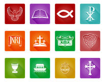 Christian Icon Symbols. A set of Christian religious icons and symbols Royalty Free Stock Image