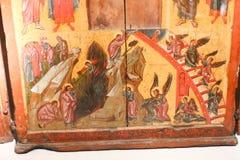 Christian Icons på det georgiska nationella museet - Tbilisi Fotografering för Bildbyråer