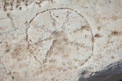 Christian Iota Symbol antico Fotografie Stock Libere da Diritti