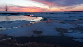 Christian Island Sunset - Georgian Bay in Winter Stock Photography