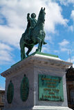 Christian IX statue. Christiansborg Palace Stock Photos
