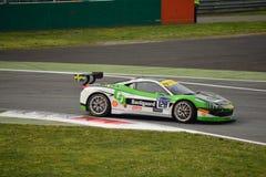 Christian Kinch Ferrari 458 utmaning Evo på Monza Royaltyfri Bild