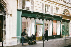 Christian Laboutin store Paris Royalty Free Stock Images