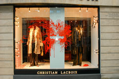 Christian Lacroix's clothing store at Paris Stock Photography