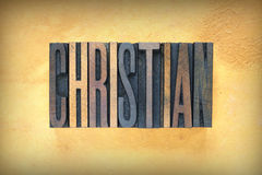 Christian Letterpress Stock Images