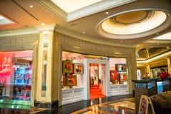 Christian Louboutin-de schoenopslag Las Vegas van de luxeontwerper Stock Foto