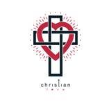 Christian Love och riktig tro i des för symbol för gudvektor idérik Royaltyfri Bild