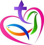 Christian love symbol. A vector drawing represents christian love symbol design Stock Photos
