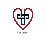 Christian Love and True Belief in God vector creative symbol des Royalty Free Stock Photo