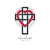 Christian Love and True Belief in God vector creative symbol des Royalty Free Stock Image