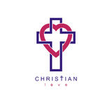Christian Love and True Belief in God vector creative symbol des Royalty Free Stock Photos