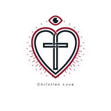 Christian Love and True Belief in God vector creative symbol des Stock Photo