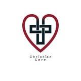 Christian Love y la creencia verdadera en dios vector el DES creativo del símbolo ilustración del vector