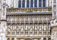 Christian Martyr Statues Facade Westminster Abbey London England Stock Photo