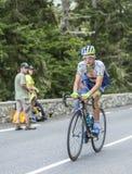 Christian Meier op Col. du Tourmalet - Ronde van Frankrijk 2014 Stock Fotografie