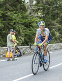 Christian Meier su Col du Tourmalet - Tour de France 2014 Fotografia Stock