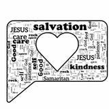 Christian Message van Liefde stock illustratie
