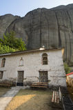 Christian Monasteries in rocks, Greece Stock Images