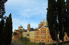 Christian monastery New Athos Royalty Free Stock Photo