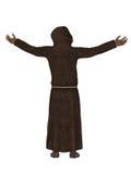 Christian monk, praying to God 3d Stock Image