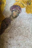Christian mosaic icon in Cathedral mosque Hagia Sofia royalty free stock images