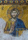 Christian mosaic icon of Jesus Christ royalty free stock image