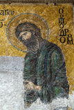 Christian mosaic icon of Jesus Christ in Cathedral mosque Hagia. Sofia in Istanbul, Turkey. Hagia Sophia is the greatest monument of Byzantine Culture royalty free stock photo