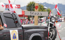 Christian Motorcyclist Association. Members of the Christian Motorcycle Association participate in Canada Day celebrations in Abbotsford, BC on July 1, 2016 Stock Photos