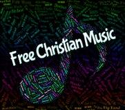 Christian Music Indicates Sound Track y audio libres Fotografía de archivo libre de regalías
