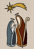 Christian nativity illustration Stock Image