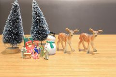 a Christian Nativity Scene of baby Jesus figure royalty free stock photography