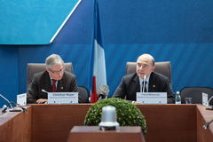 Christian Noyer and  Pierre Moscovici Stock Photo