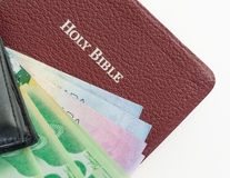 Christian offering or tithe royalty free stock photos