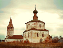 Christian old chirch in russian town Suzdal Stock Photos