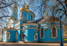 Christian Orthodox church. The building of the Christian Orthodox church Royalty Free Stock Photo