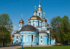 Christian Orthodox church. The building of the Christian Orthodox church Royalty Free Stock Photography