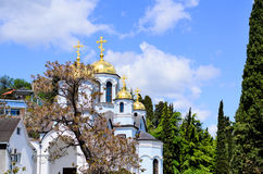 Christian Orthodox church with domed tower bell Royalty Free Stock Photography