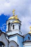 Christian Orthodox church with domed tower bell Royalty Free Stock Photos
