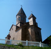 Christian Orthodox Church on the hillside Royalty Free Stock Photos