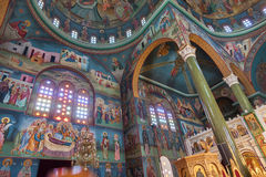 Christian Orthodox church interior Royalty Free Stock Images