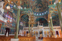 Christian Orthodox church interior Royalty Free Stock Photos