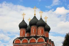 Christian orthodox church, Moscow, Russia. This is a christian orthodox church in downtown Moscow. It's one of 300 churches in Moscow, Russia Royalty Free Stock Photos