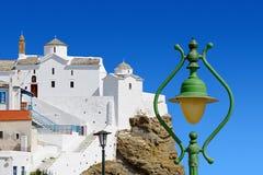 Christian Orthodox Church na ilha de Skopelos imagens de stock royalty free