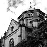 Christian Orthodox Church in Timisoara, Romania. Black and white high contrast look at christian orthodox church in Timisoara, Romania stock image