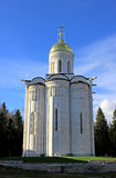 Christian Orthodox church of white stone Stock Photos