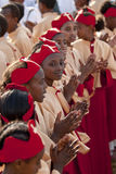 Christian orthodox devotees Stock Image