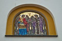 Christian orthodox icon on monastery entrance, Serbia. Christian orthodox icon on monastery entrance in Serbia Royalty Free Stock Photo